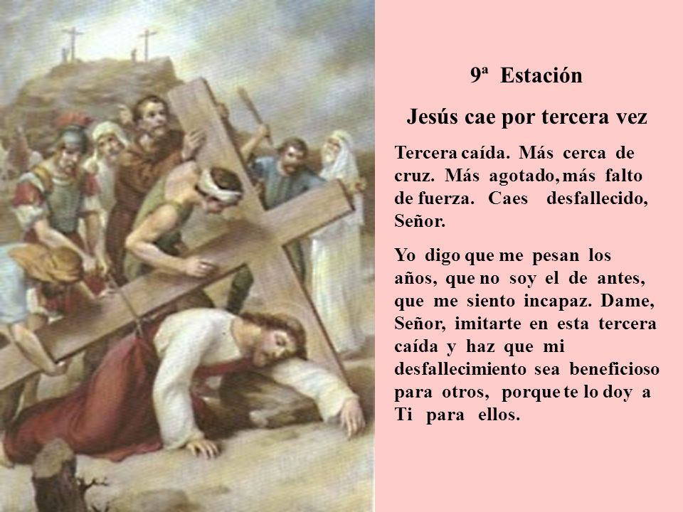 Jesús cae por tercera vez
