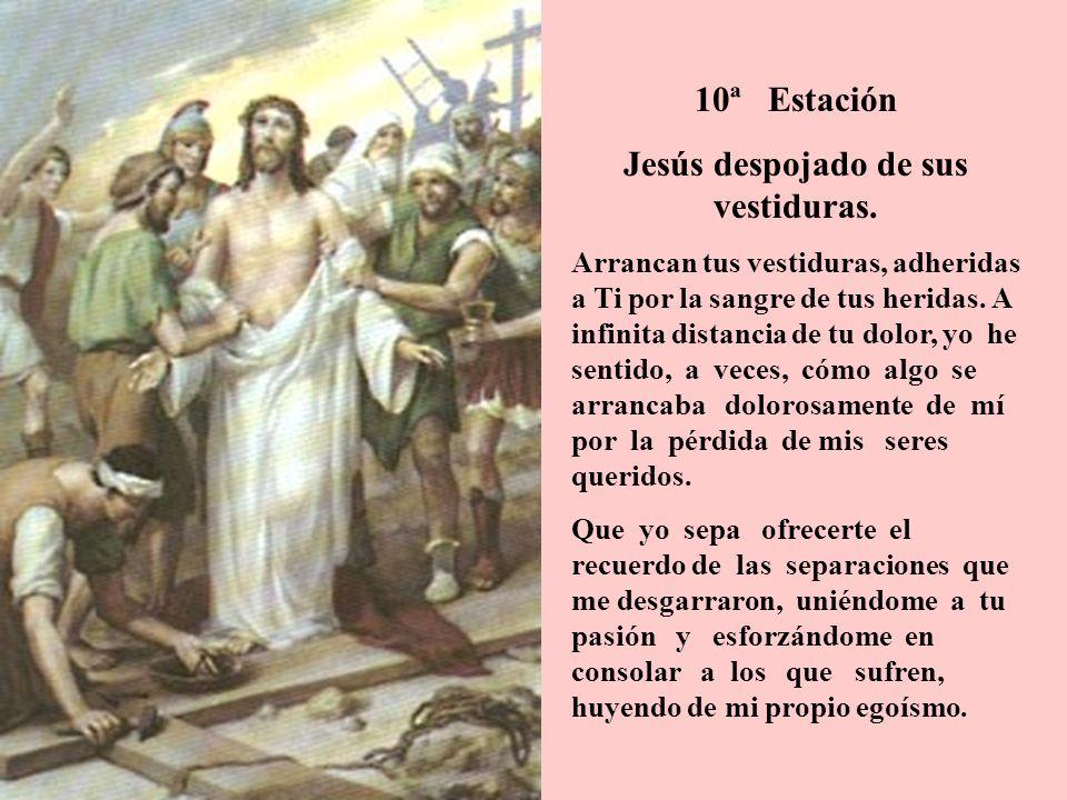 Jesús despojado de sus vestiduras.