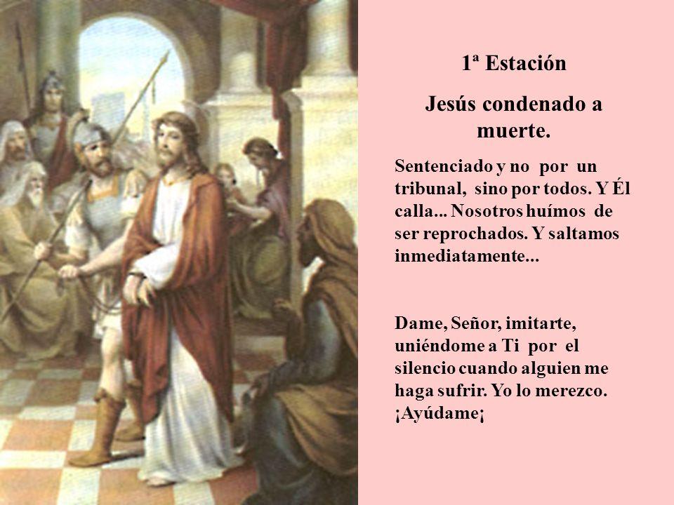 Jesús condenado a muerte.