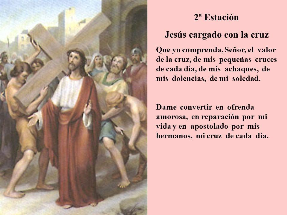 Jesús cargado con la cruz