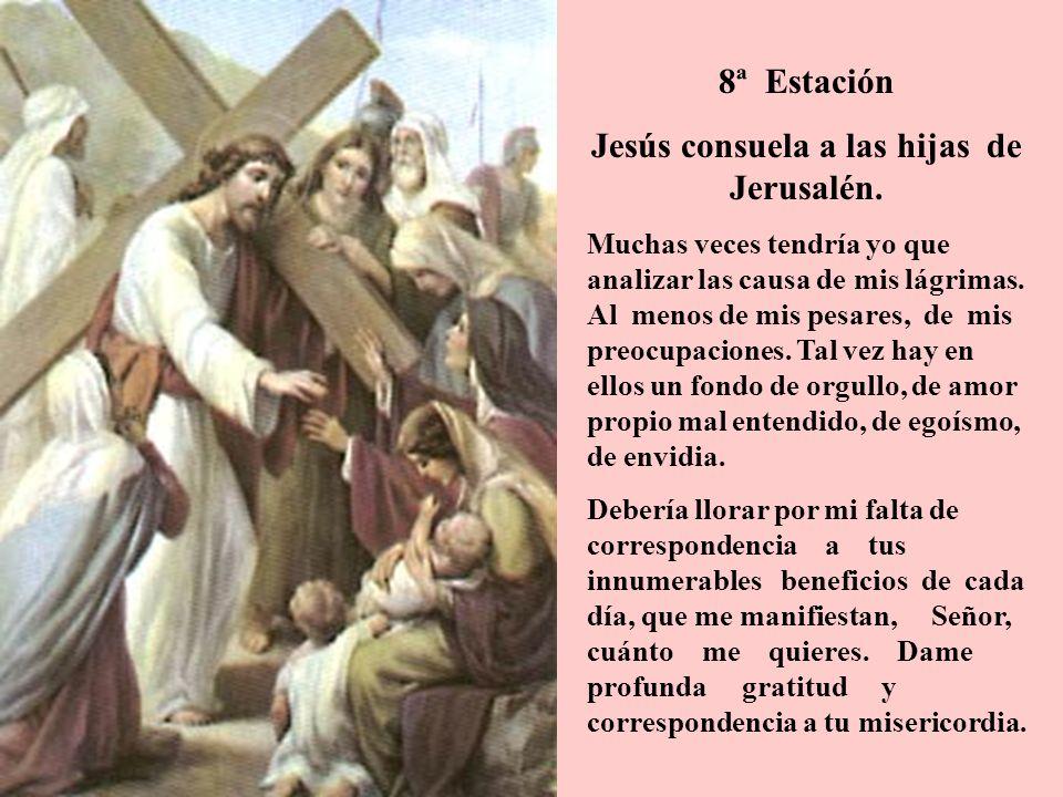 Jesús consuela a las hijas de Jerusalén.