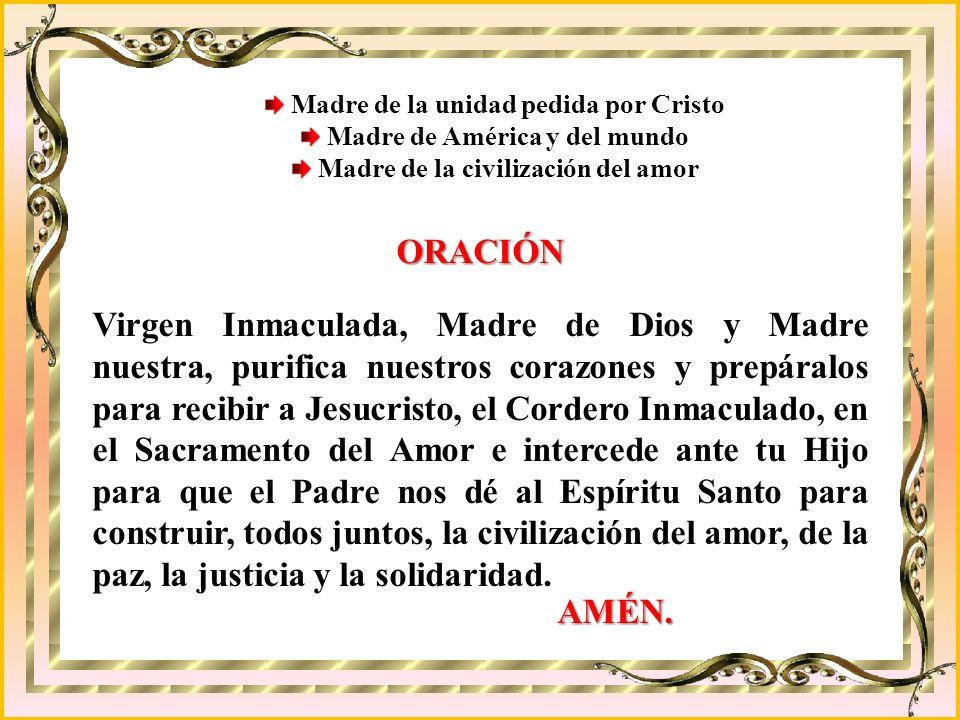 Madre de la unidad pedida por Cristo