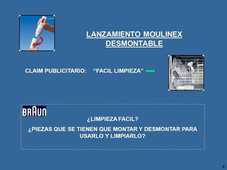LANZAMIENTO MOULINEX DESMONTABLE