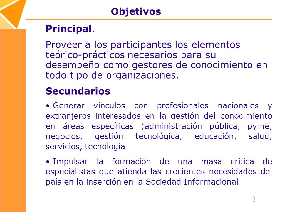 Objetivos Principal.