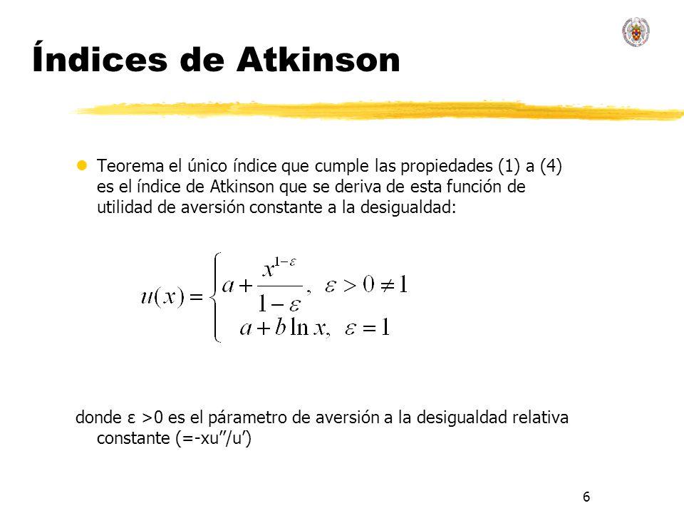 Índices de Atkinson