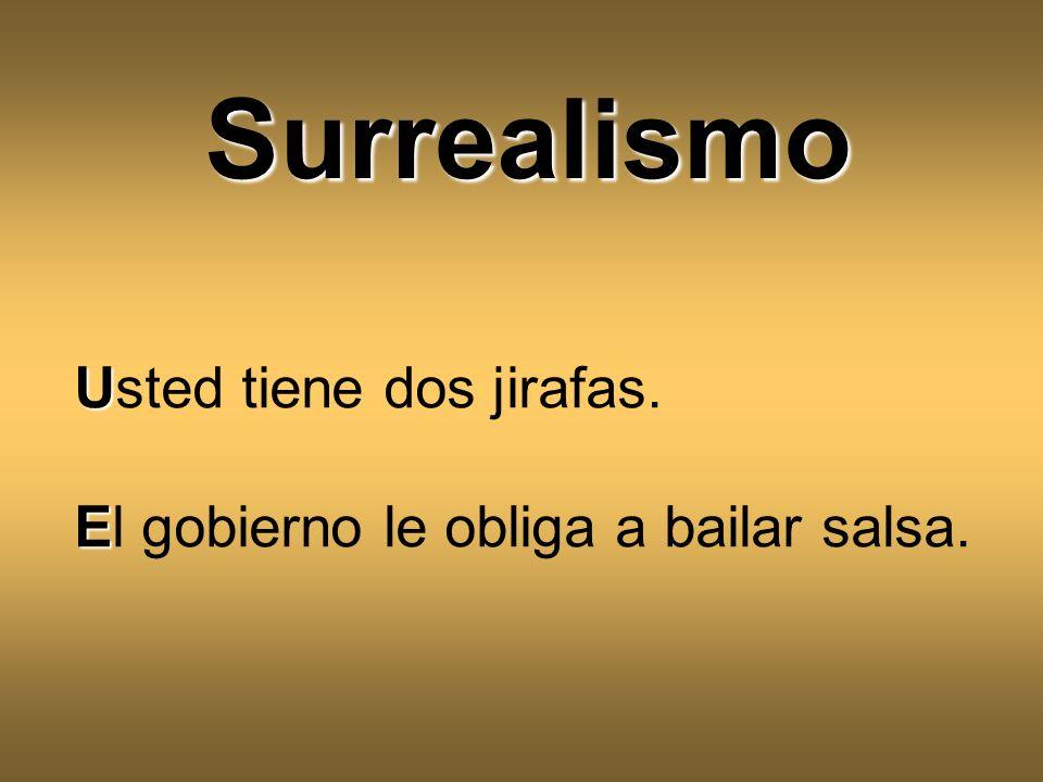 Surrealismo Usted tiene dos jirafas.