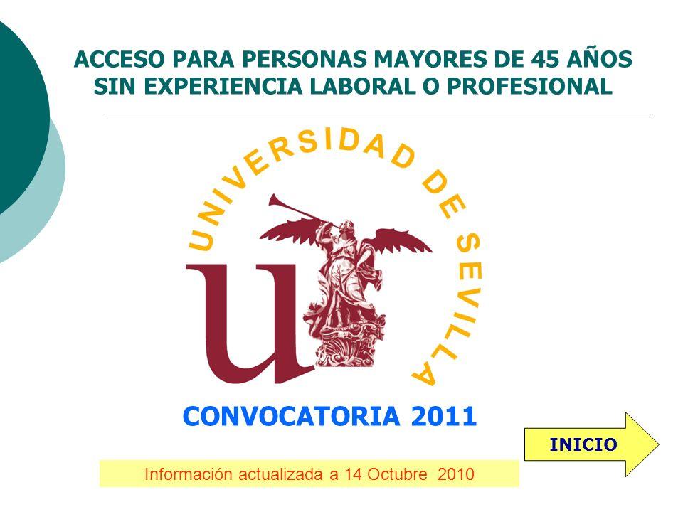 Información actualizada a 14 Octubre 2010