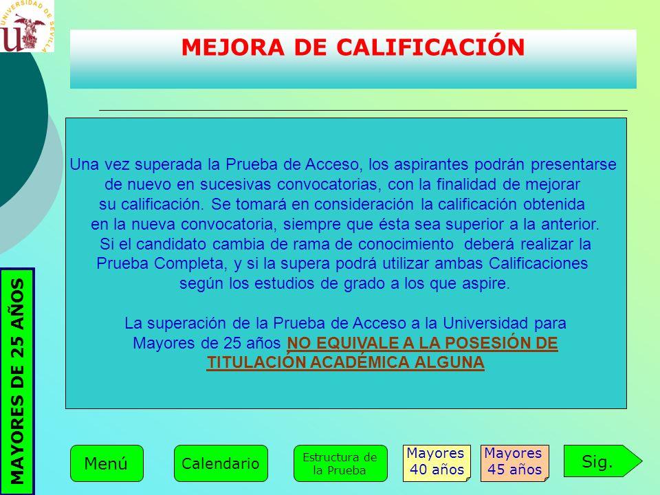 MEJORA DE CALIFICACIÓN TITULACIÓN ACADÉMICA ALGUNA