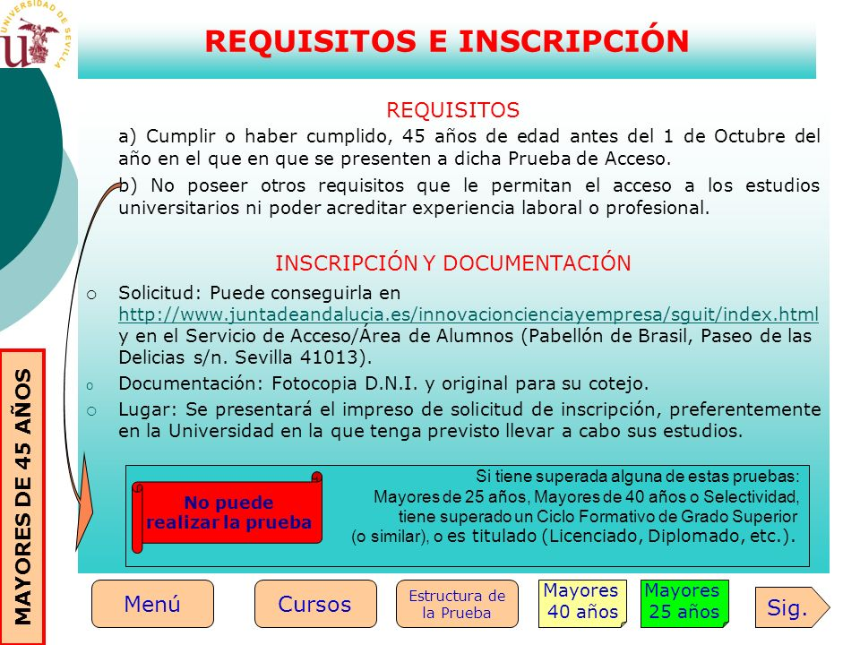 REQUISITOS E INSCRIPCIÓN