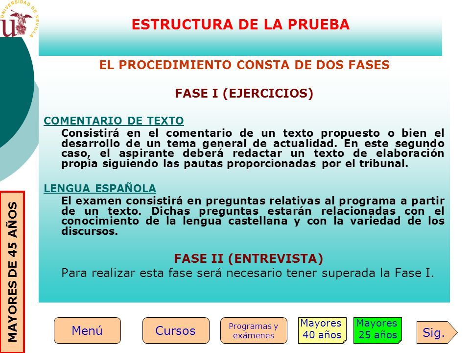 ESTRUCTURA DE LA PRUEBA EL PROCEDIMIENTO CONSTA DE DOS FASES