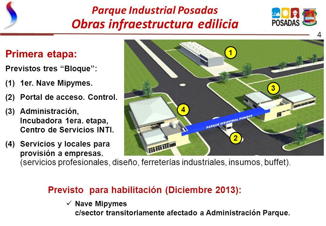 Parque Industrial Posadas Obras infraestructura edilicia