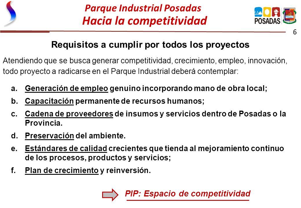 Parque Industrial Posadas Hacia la competitividad
