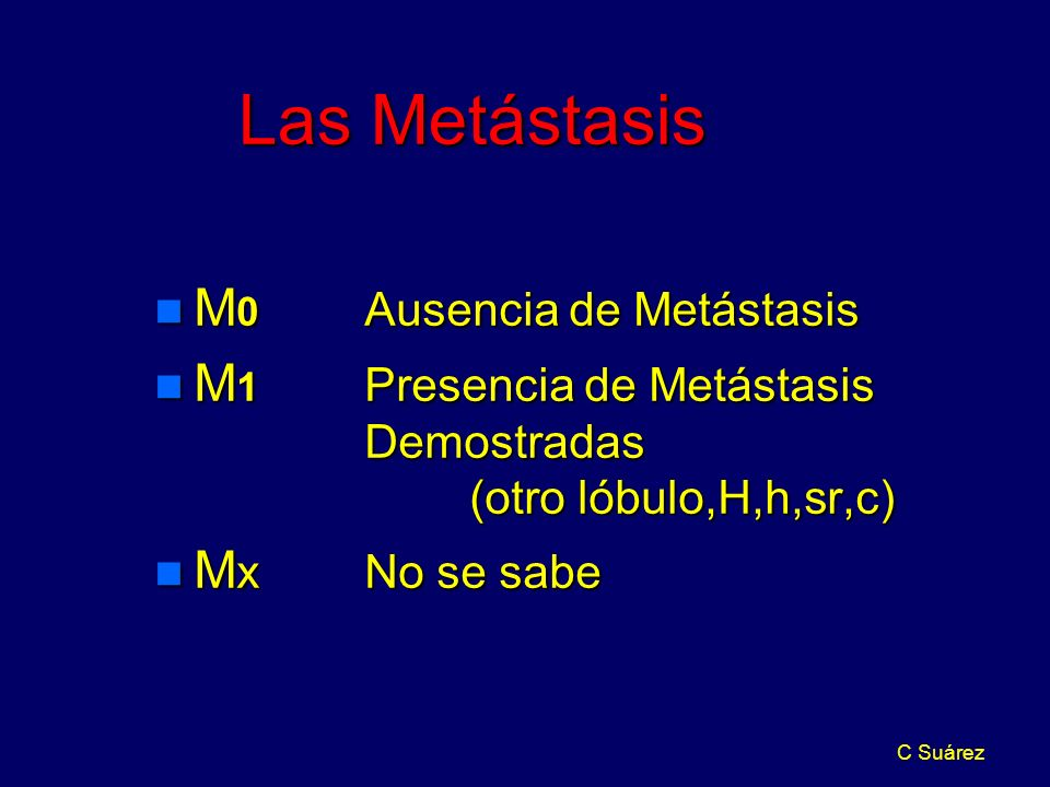 Las Metástasis M0 Ausencia de Metástasis