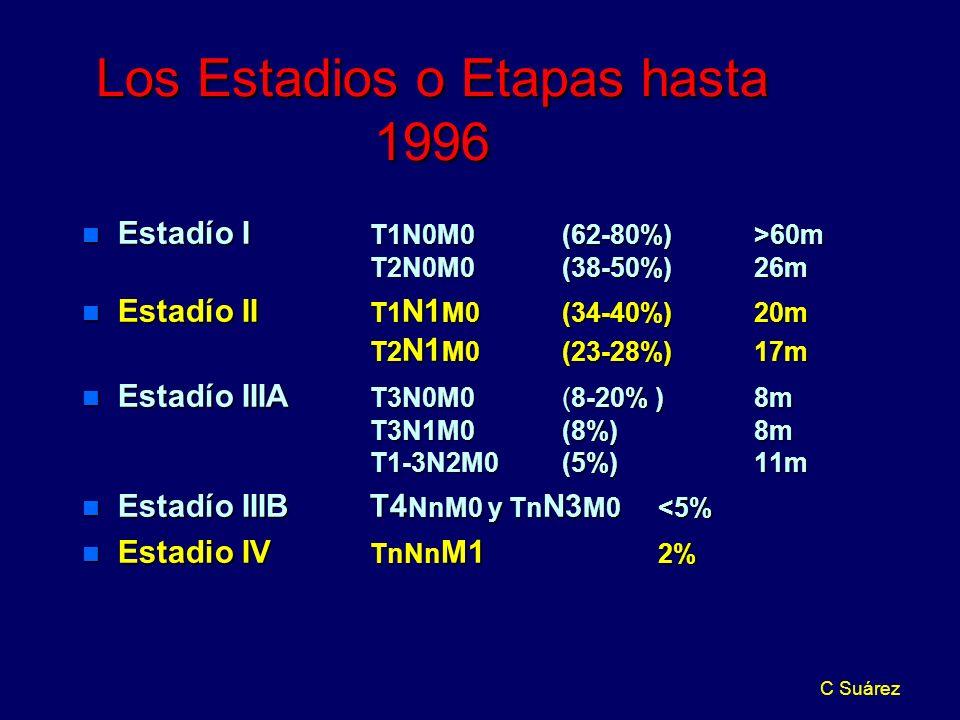 Los Estadios o Etapas hasta 1996