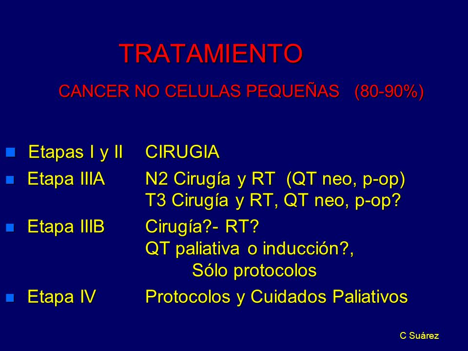 CANCER NO CELULAS PEQUEÑAS (80-90%)