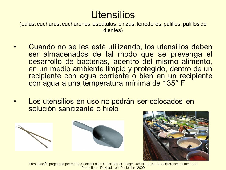 Utensilios (palas, cucharas, cucharones, espátulas, pinzas, tenedores, palillos, palillos de dientes)