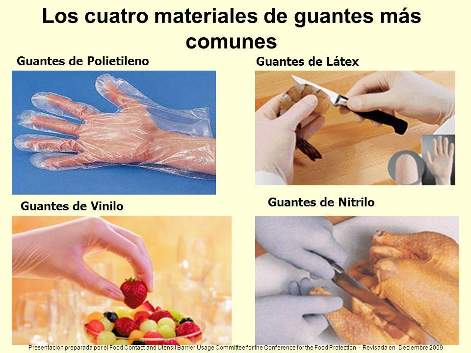 Los cuatro materiales de guantes más comunes