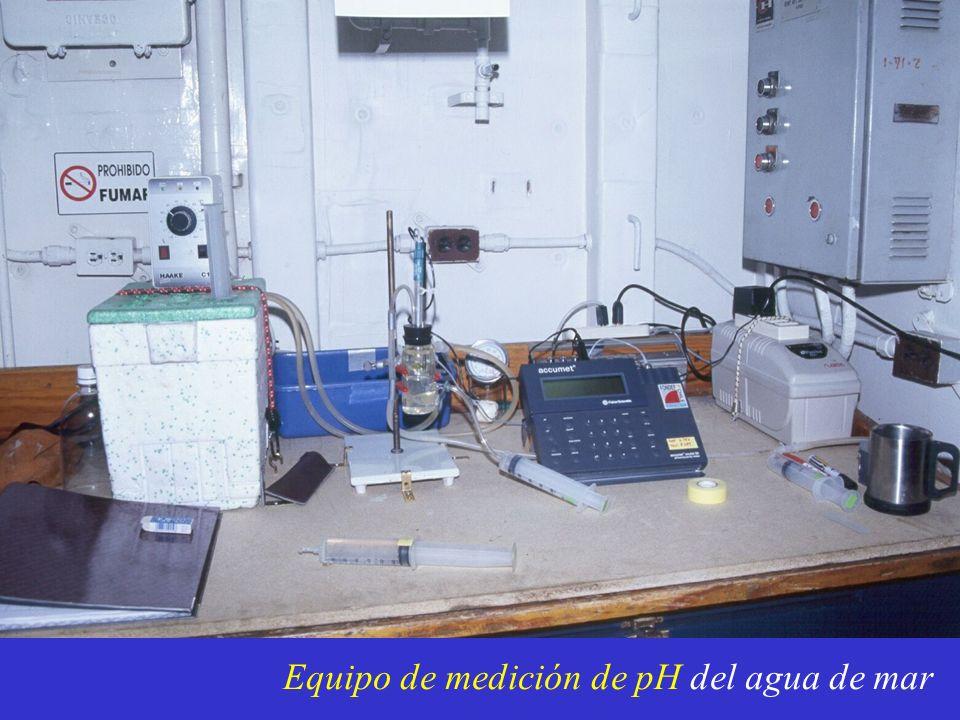 Equipo de medición de pH del agua de mar