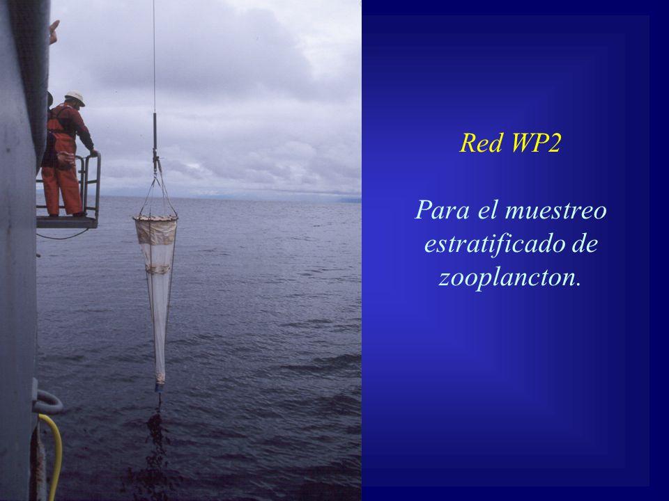 Para el muestreo estratificado de zooplancton.