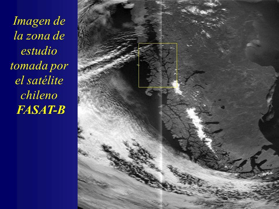 Imagen de la zona de estudio tomada por el satélite chileno