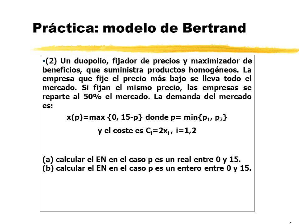 Práctica: modelo de Bertrand