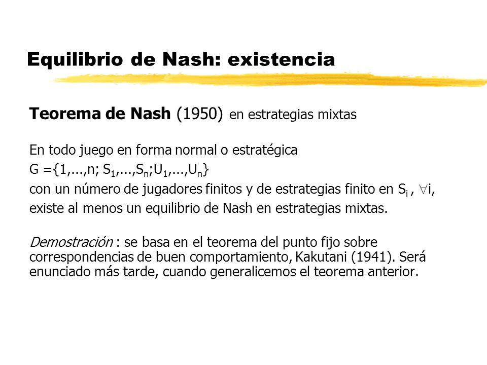 Equilibrio de Nash: existencia