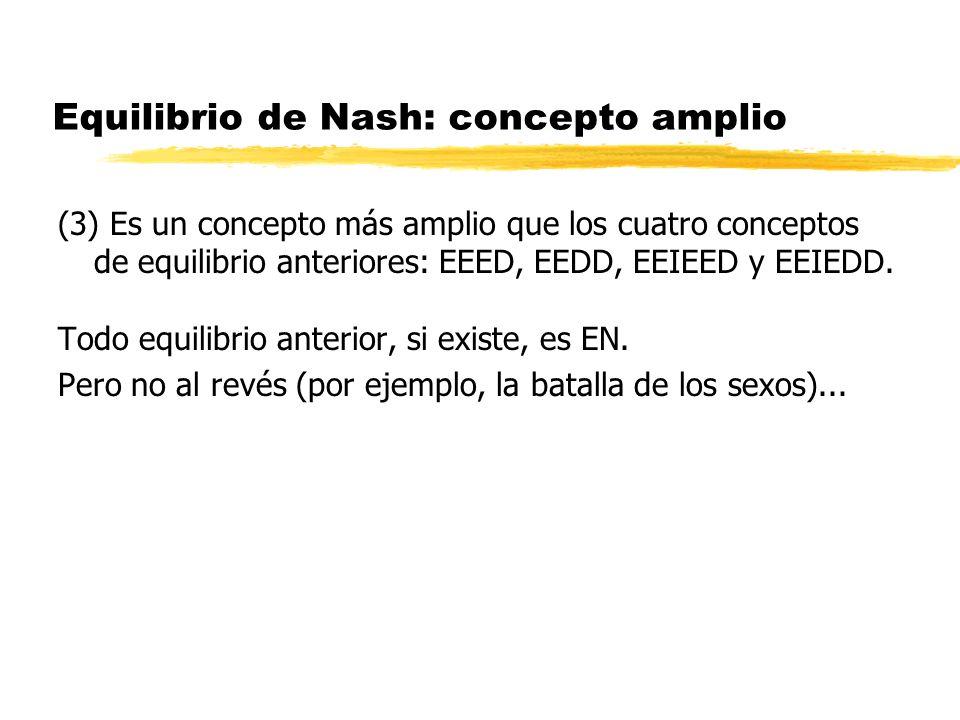 Equilibrio de Nash: concepto amplio