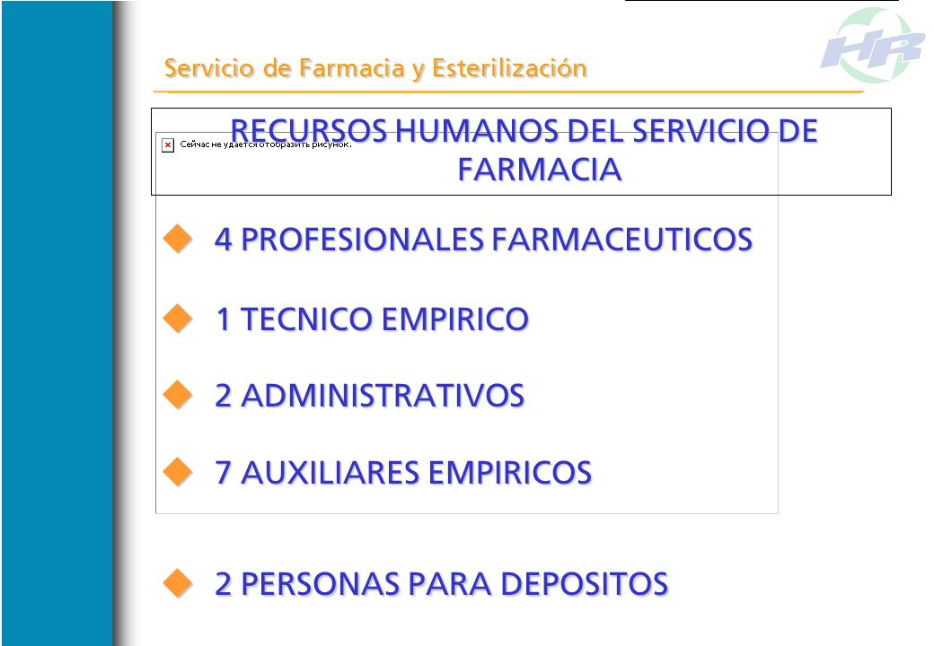 RECURSOS HUMANOS DEL SERVICIO DE FARMACIA