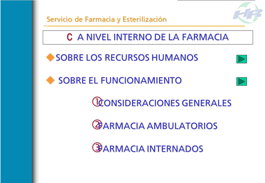 A NIVEL INTERNO DE LA FARMACIA
