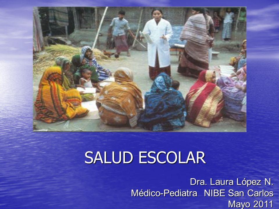 SALUD ESCOLAR Dra. Laura López N. Médico-Pediatra NIBE San Carlos