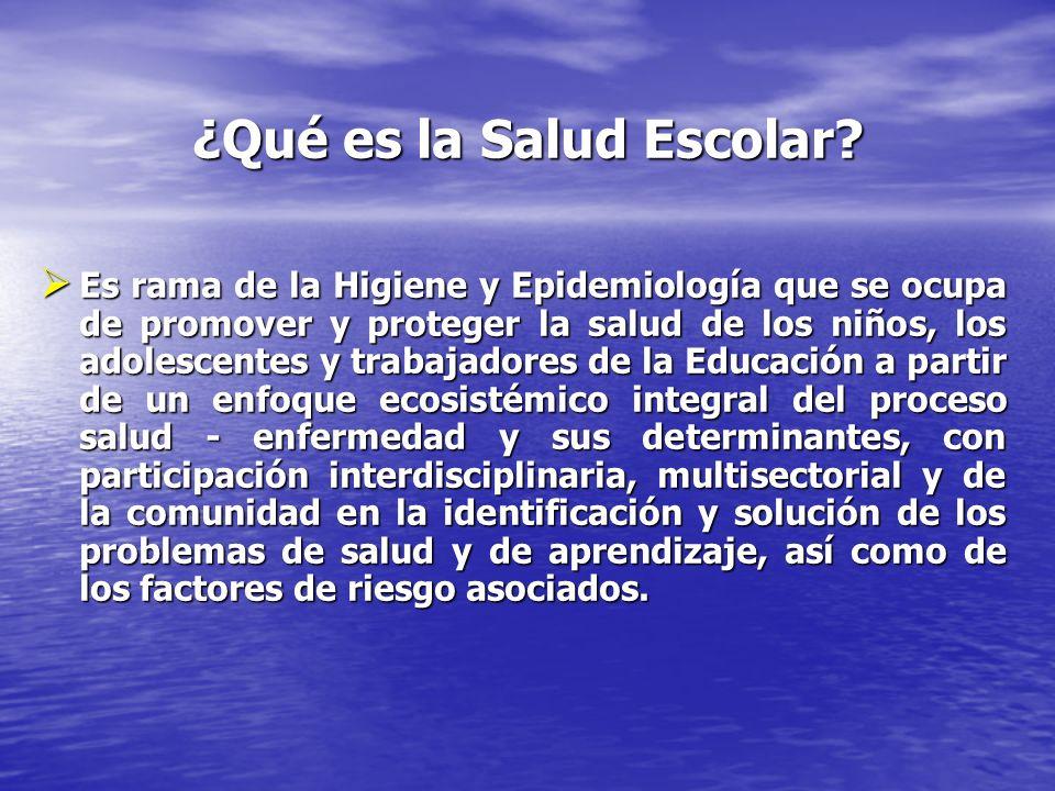 ¿Qué es la Salud Escolar