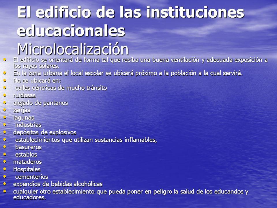 El edificio de las instituciones educacionales Microlocalización