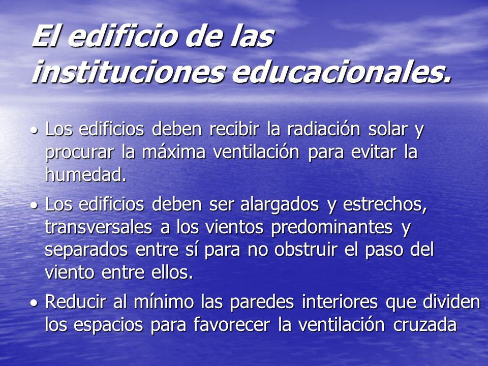 El edificio de las instituciones educacionales.