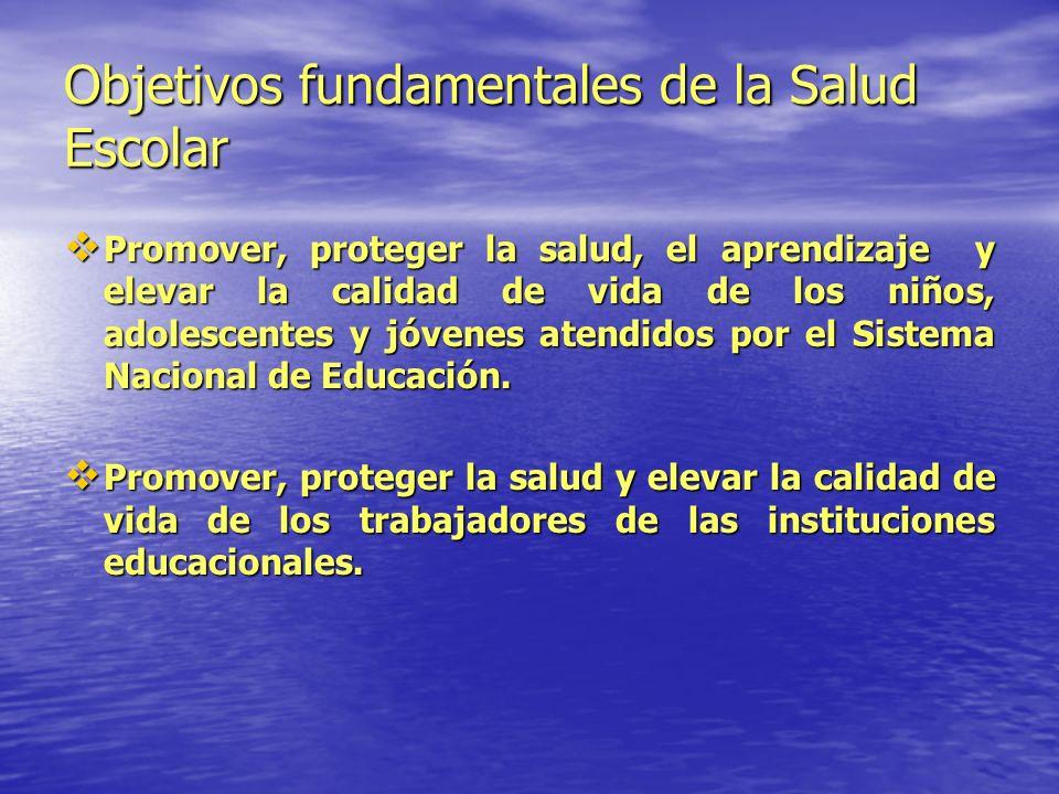 Objetivos fundamentales de la Salud Escolar
