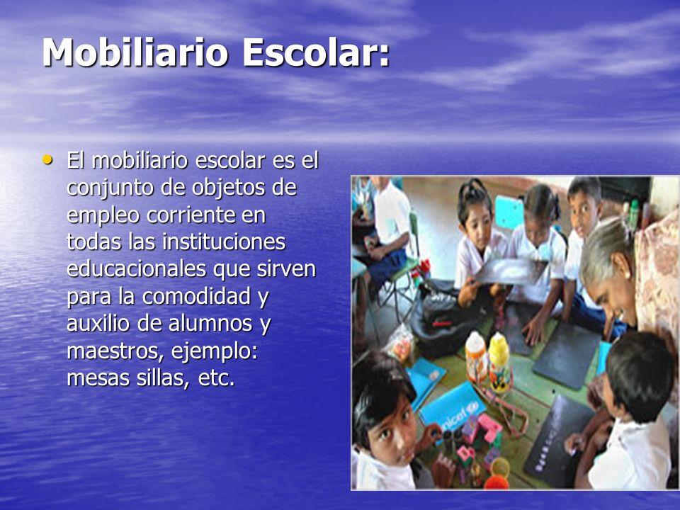 Mobiliario Escolar: