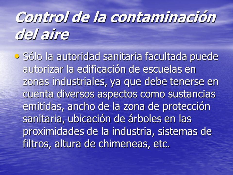Control de la contaminación del aire
