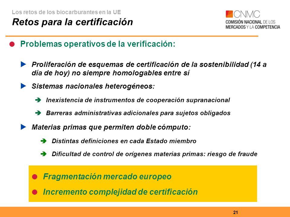 Retos para la certificación