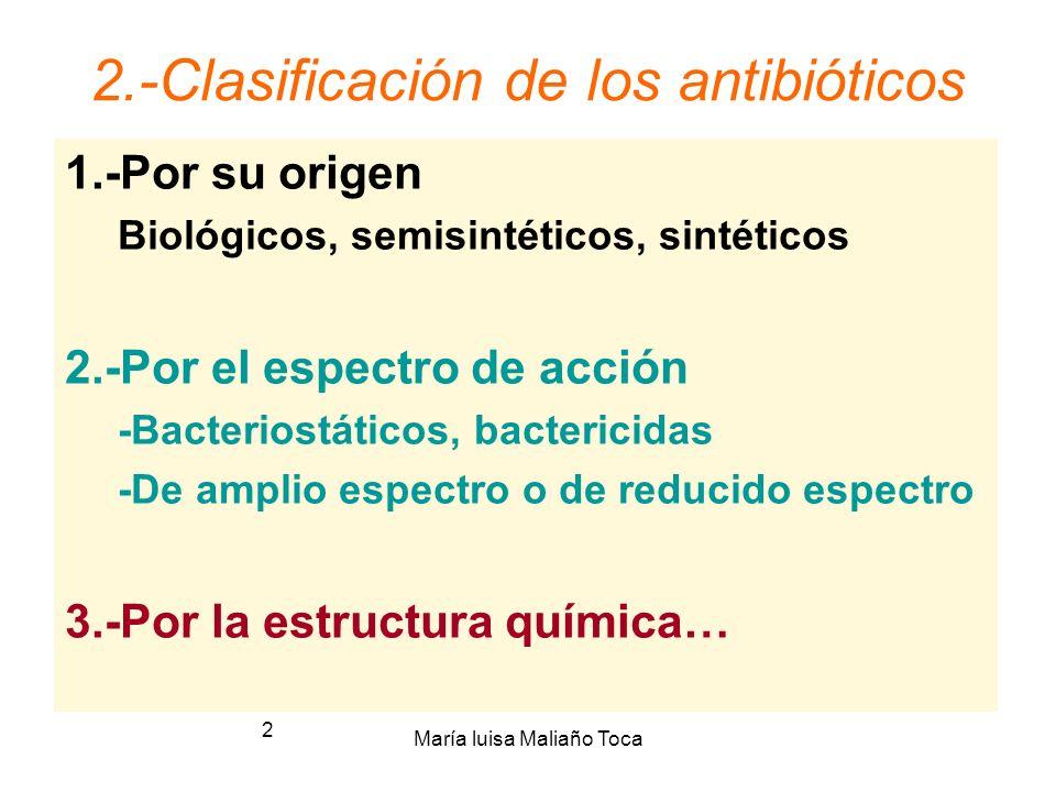 2.-Clasificación de los antibióticos