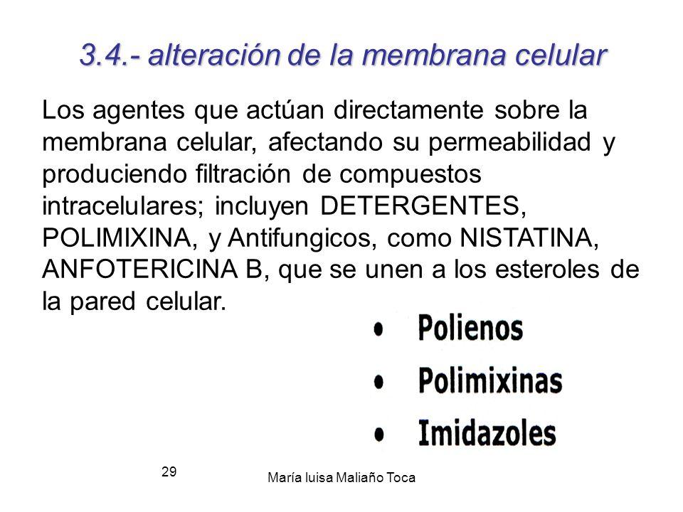 3.4.- alteración de la membrana celular