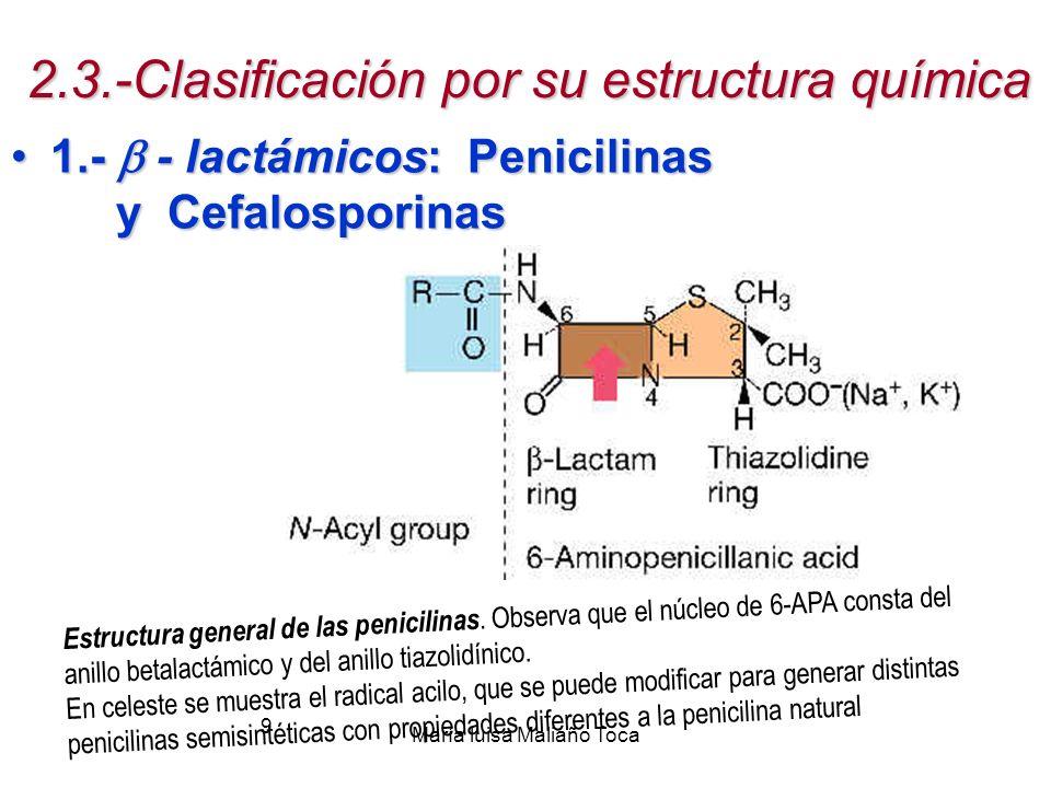 2.3.-Clasificación por su estructura química