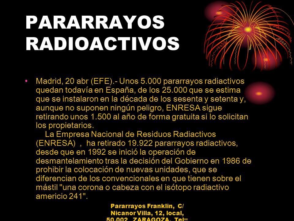 PARARRAYOS RADIOACTIVOS
