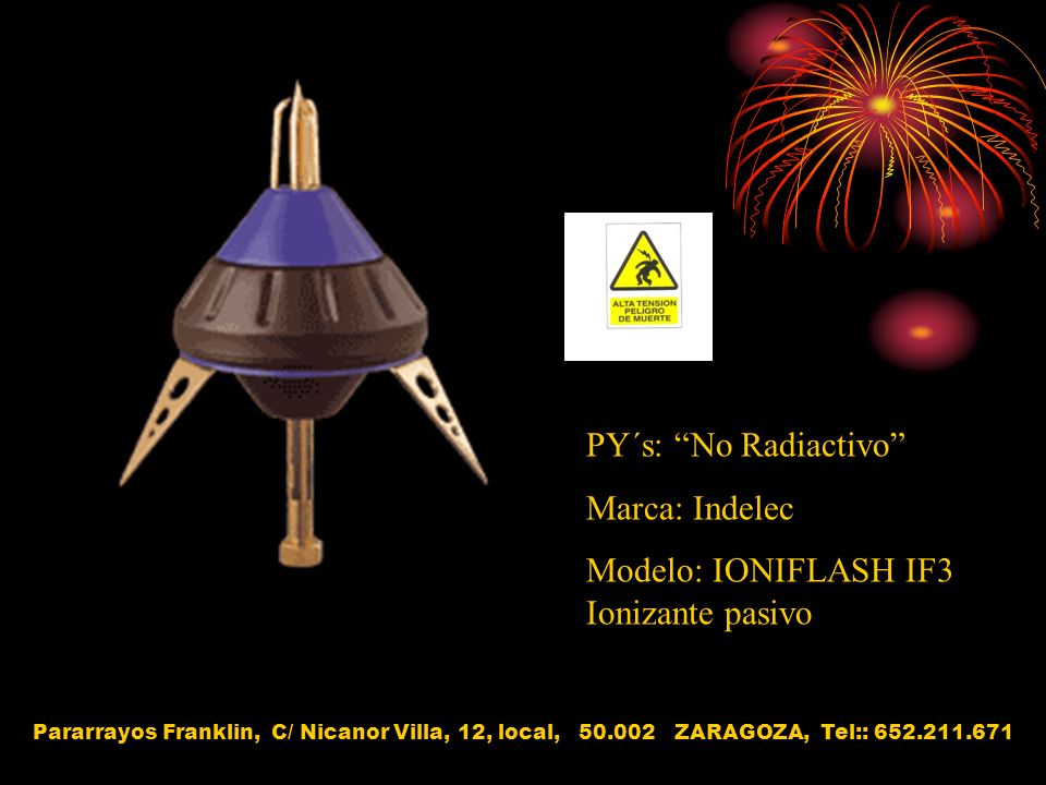 Modelo: IONIFLASH IF3 Ionizante pasivo