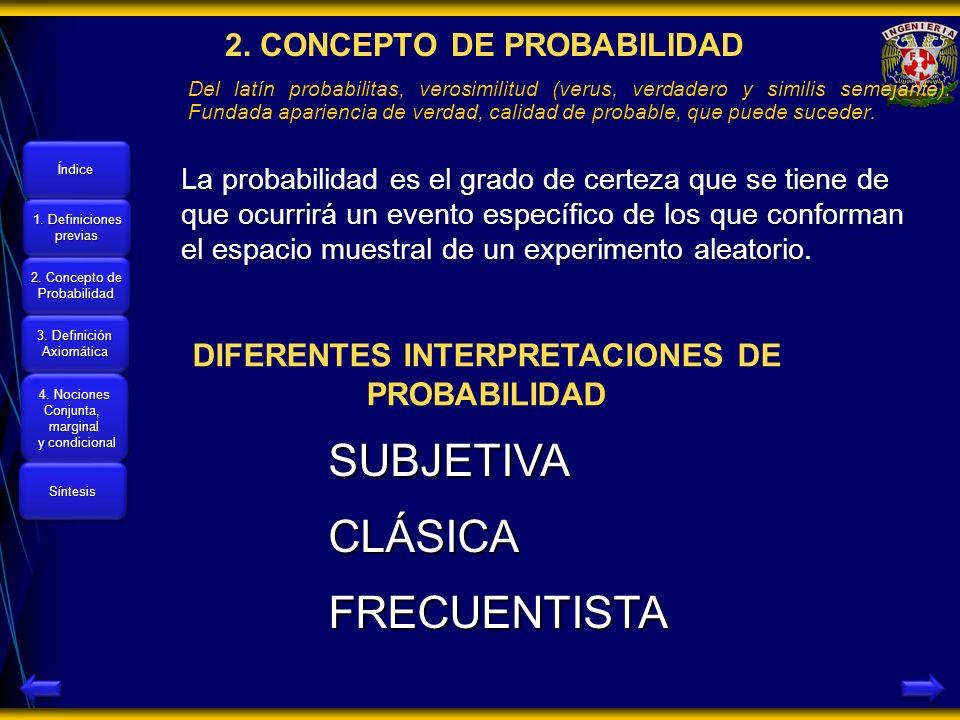 2. CONCEPTO DE PROBABILIDAD