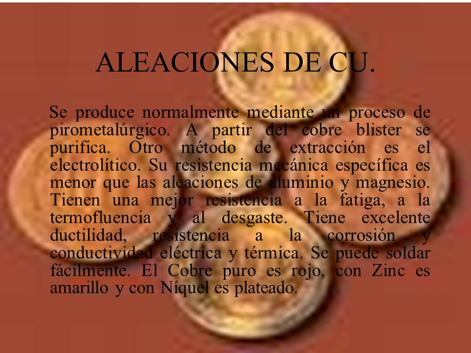 ALEACIONES DE CU.