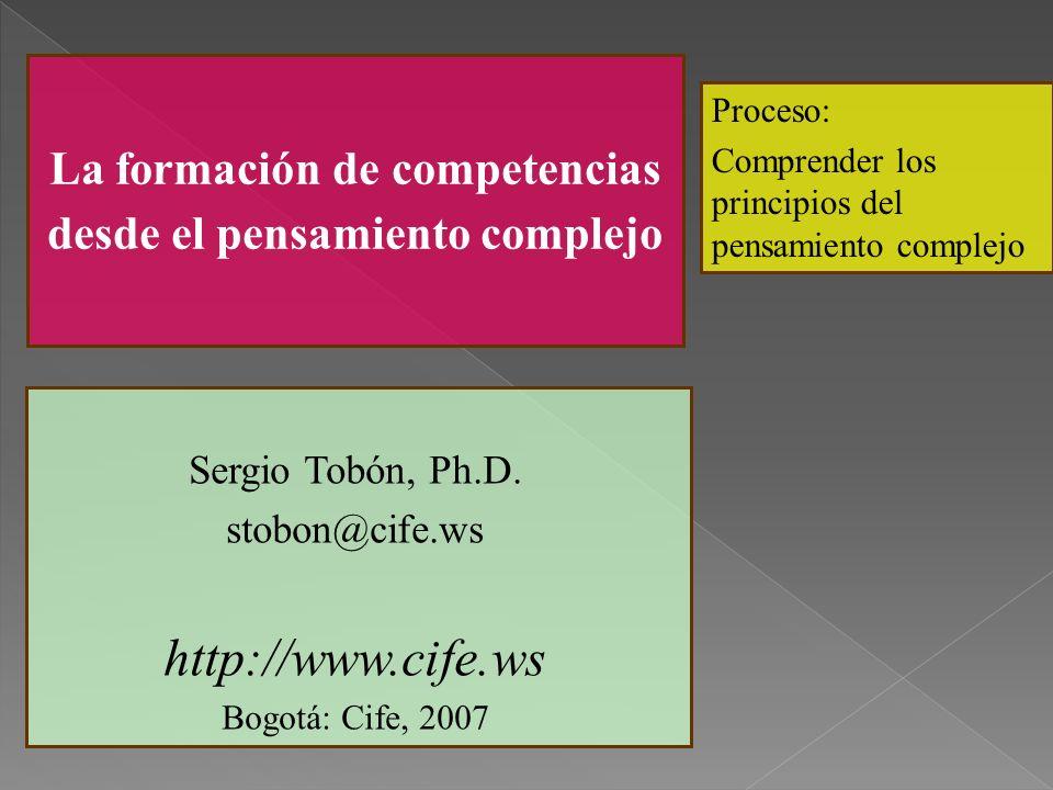 La formación de competencias desde el pensamiento complejo