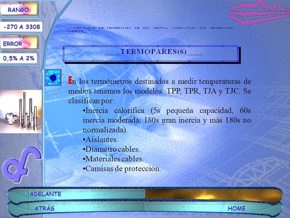 RANGO ERROR. -270 A 3308. 0,5% A 2%