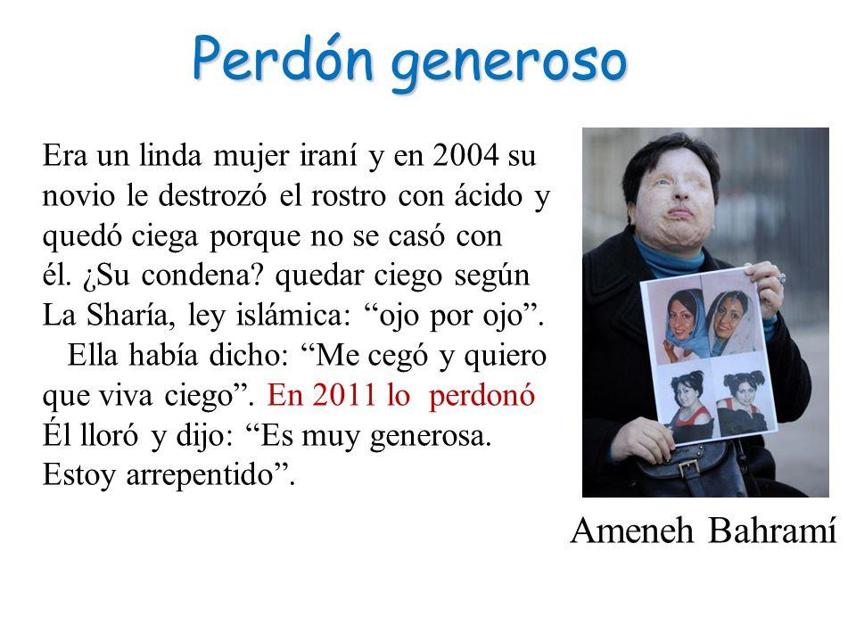 Perdón generoso Ameneh Bahramí