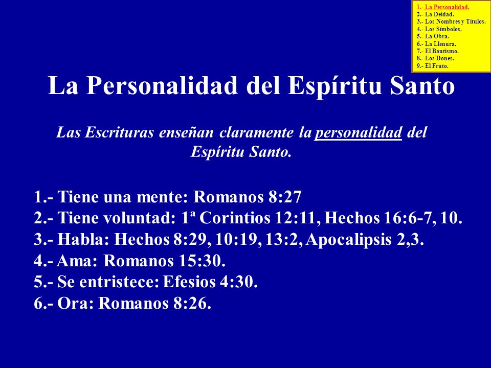 Las Escrituras enseñan claramente la personalidad del