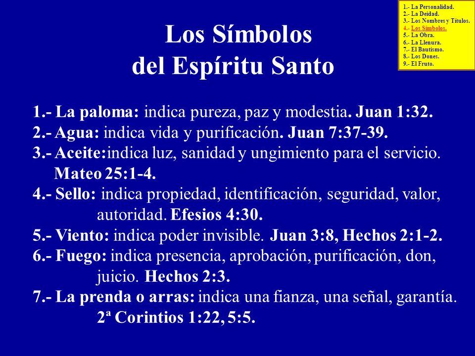 Los Símbolos del Espíritu Santo