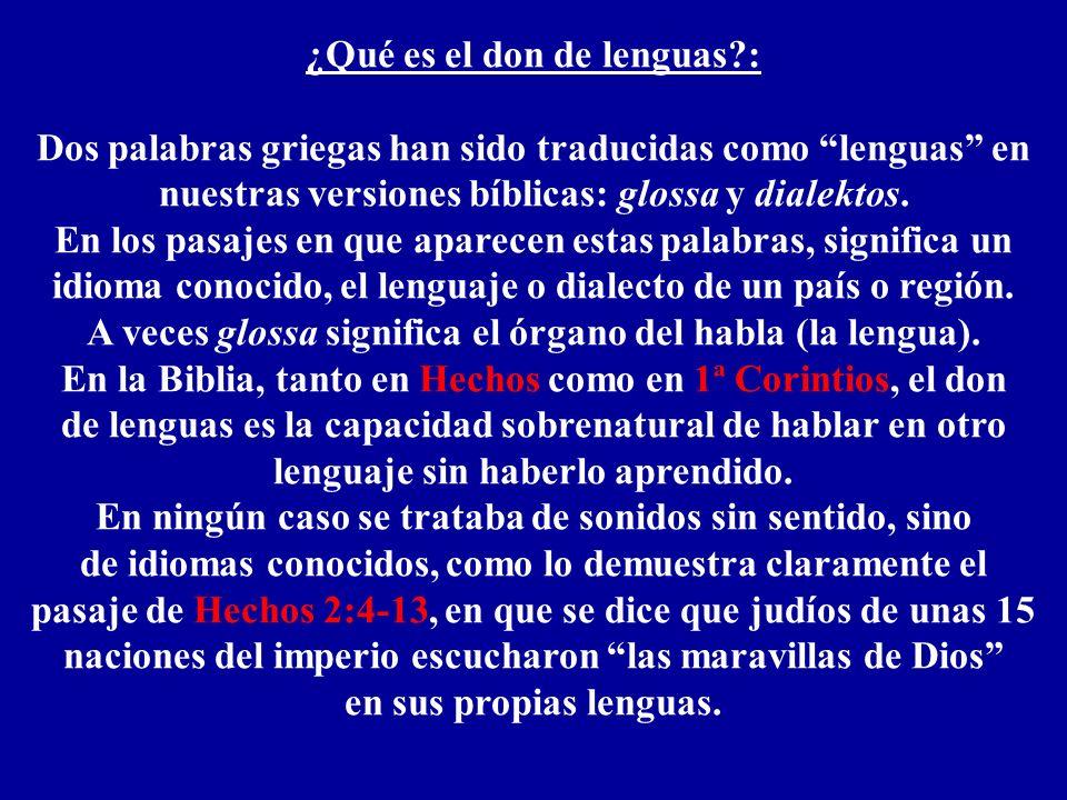 ¿Qué es el don de lenguas :